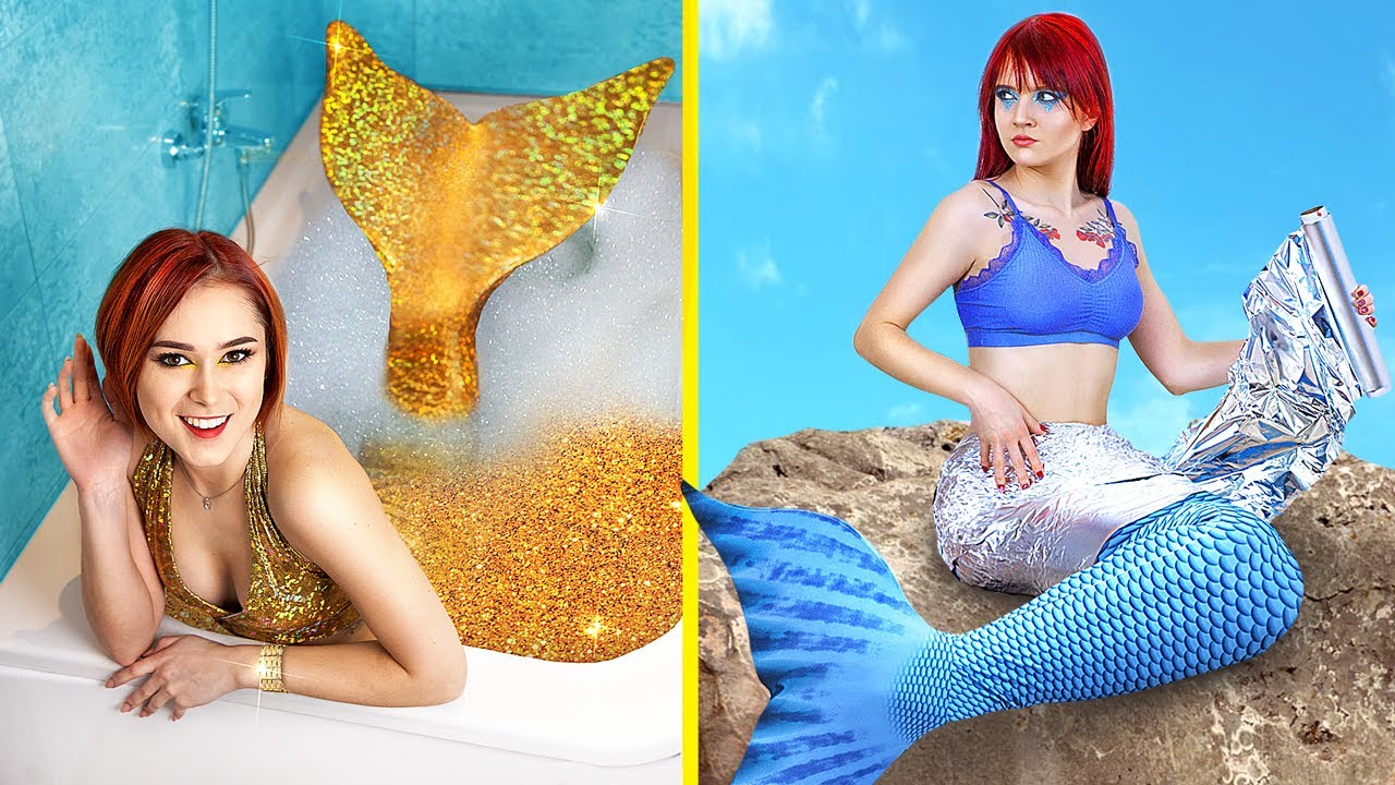 Rich vs Broke Mermaid / 19 Funny Situations - download from YouTube for free