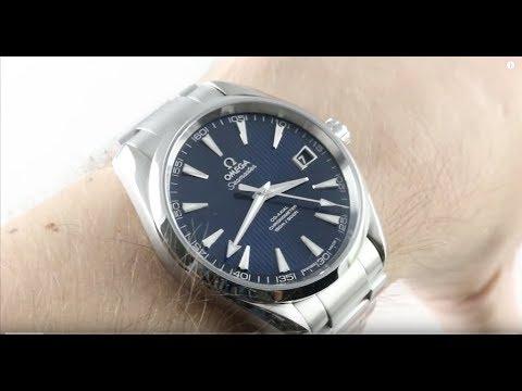 Omega Seamaster Aqua Terra (BLUE/STEEL) 41.5mm 231.10.42.21.03.003 Luxury Watch Review