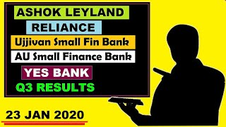 ( Yes Bank) (Ashok Leyland) ( Au small Fin) ( Ujjivan small ) ( Reliance) ( Q3 Results) news by SMkC