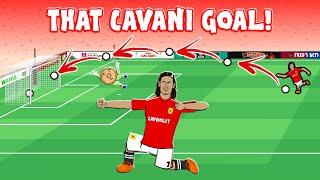 🤩EDINSON CAVANI LOB!🤩 (Man Utd vs Fulham, Edinson Cavani Goal Highlights)