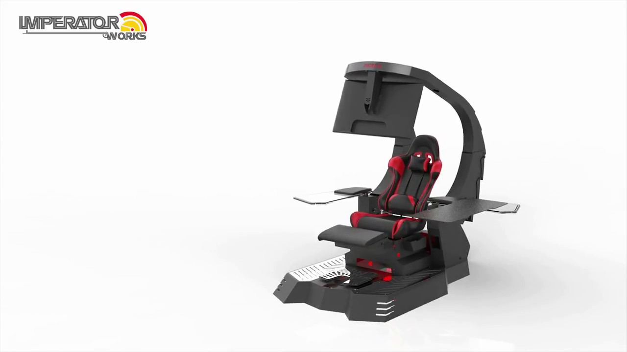 imperator works gaming chair cushions at lowes imperatorworks j20 reclining workstation youtube