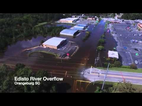 Drone Footage Of Edisto River Overflow Orangeburg SC