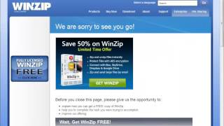 Uninstall WinZip 19.0.11293