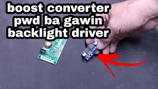 Download boost converter  or backlight driver