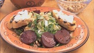 Spinach, Beet And Walnut Salad Hd