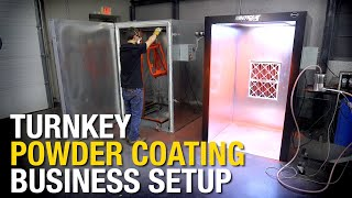 The PERFECT Turn-Key Powder Coating Business Setup: HotCoat Booth and Oven from Eastwood