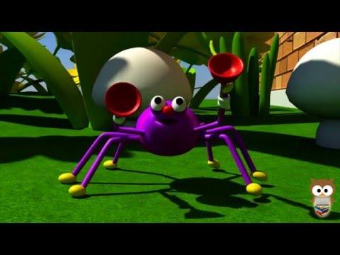 Küçük Örümcek Şarkısı | Itsy Bitsy Spider Turkish | 3D Animasyonlu Çocuk Şarkıları | Mini Baykuş
