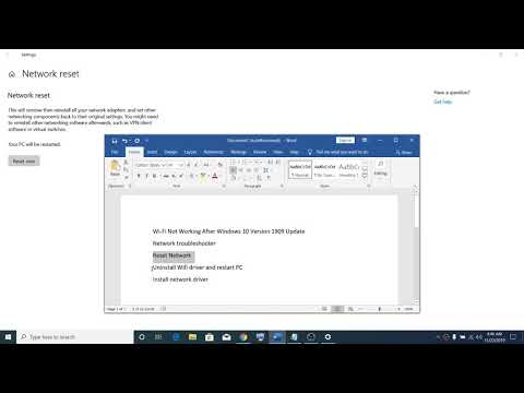 WiFi Not Working After Windows 10 Version 2004, 1909 & 1903 Update
