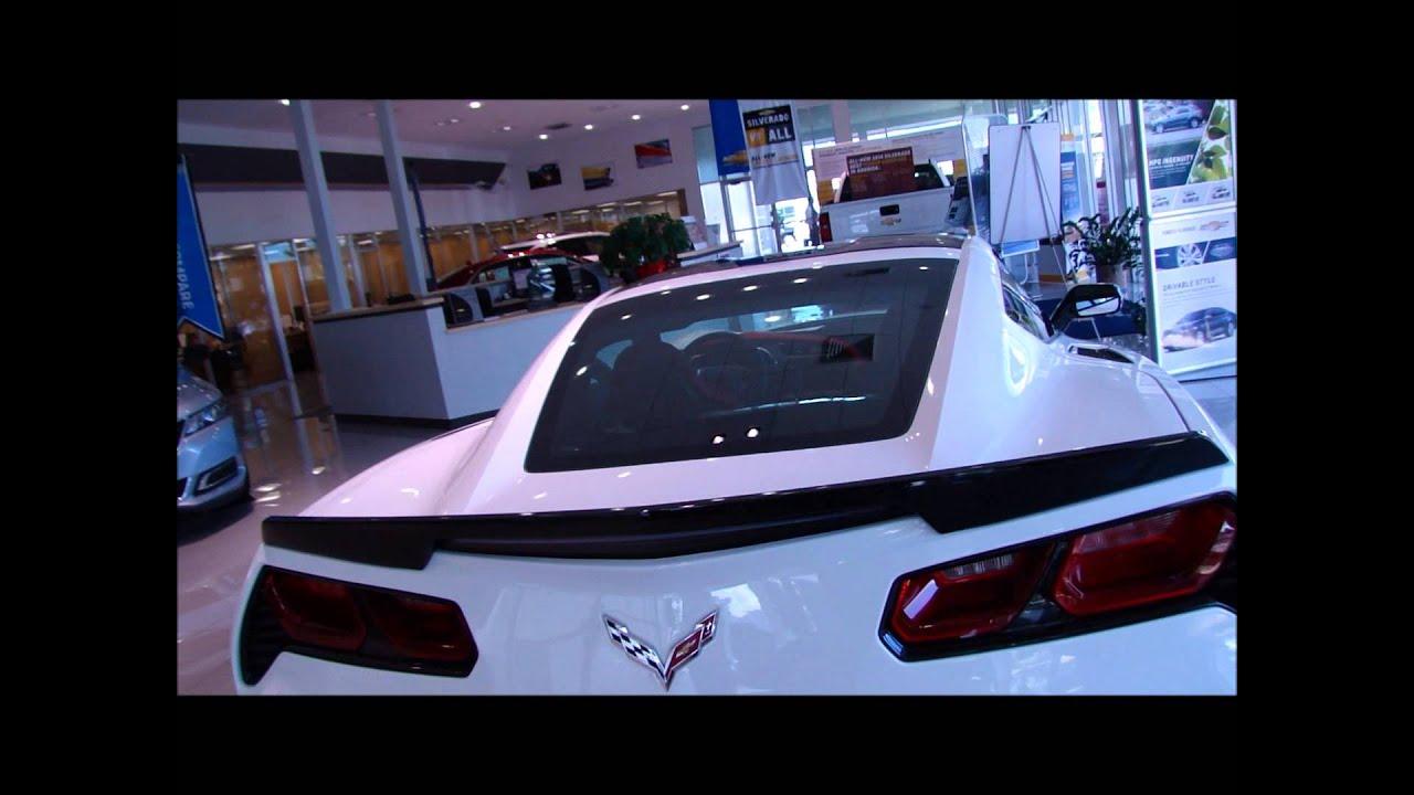 White Corvette Stingray >> 2014 Arctic White Corvette Stingray Z51 @ Roger Dean Chevy - YouTube