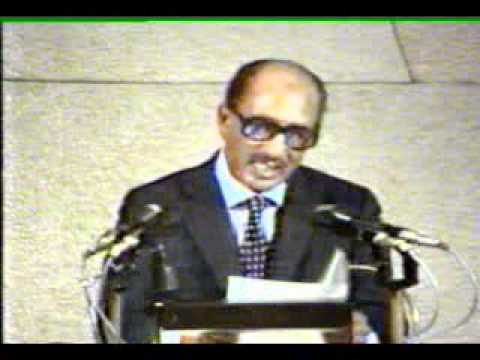 Sadat, the Egyptian president in the Knesset