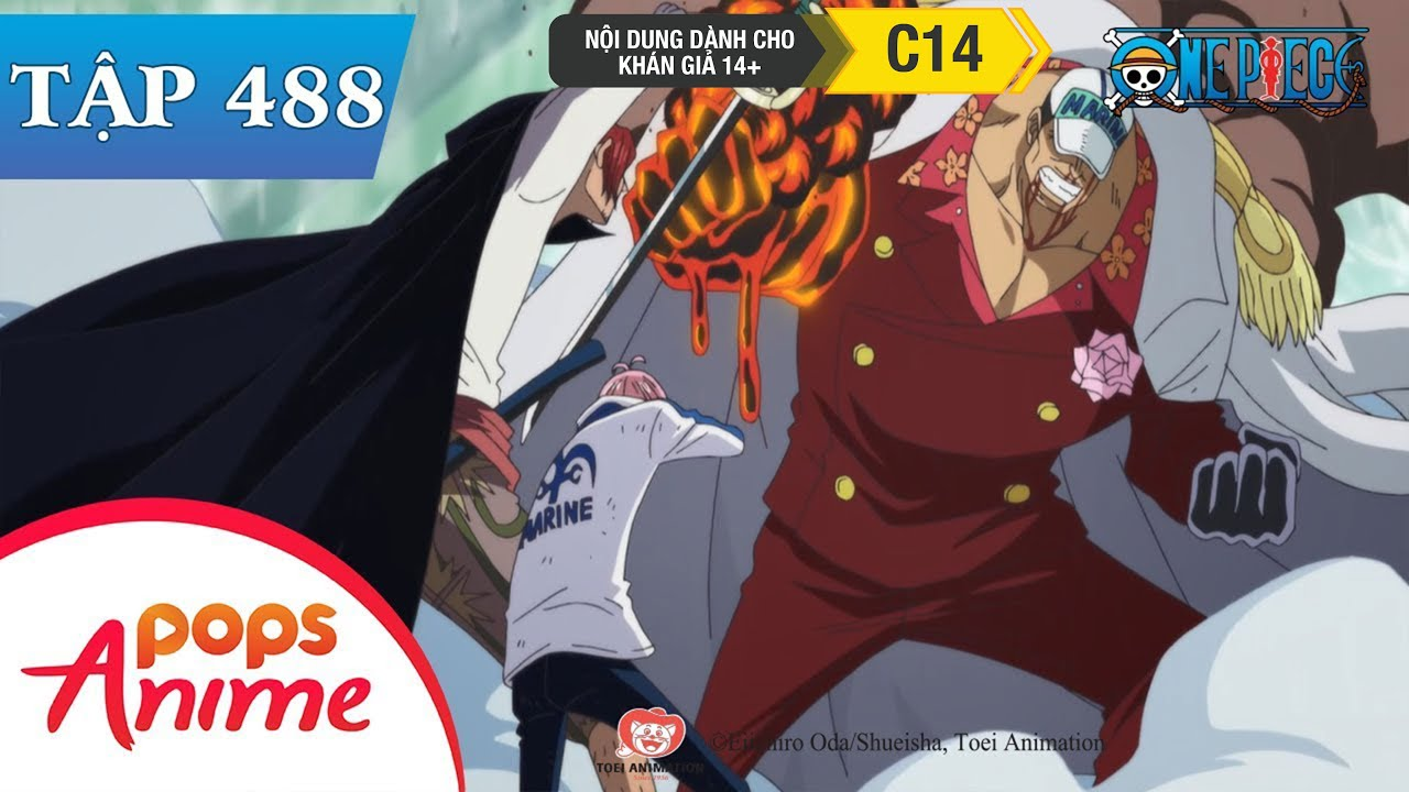 One Piece Tập 488 – Tiếng Thét Tuyệt Vọng. Vài Giây Anh Hùng Thay Đổi Cả Vận Mệnh – Đảo Hải Tặc