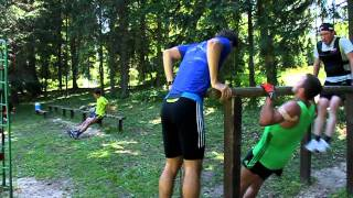 Russia ski team strength training