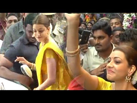 Kajal Agarwal Launches Chennai Shopping Mall In Khammam | TFPC