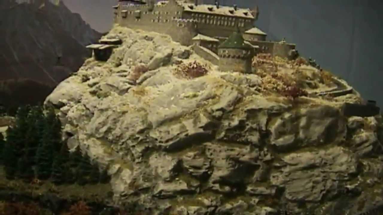 Diorama Model Train Layout Where Eagles Dare Youtube