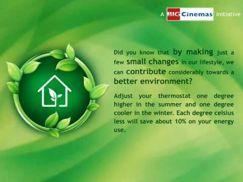 Green your lifestyle - A Global BIG Cinemas Initiative
