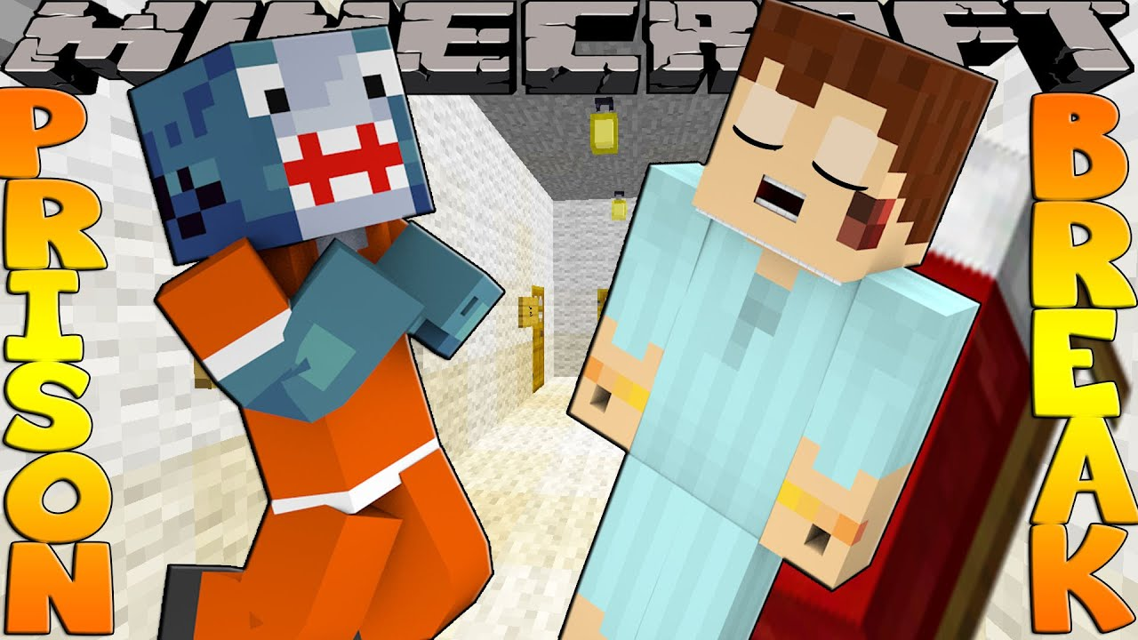 Minecraft PRISON BREAK - SHARKY FINDS SCUBA STEVE!!