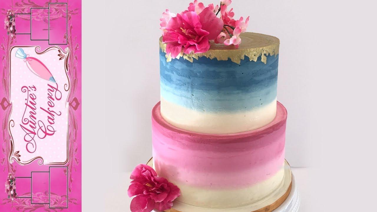 Burgundy Blue Wedding Cake Tutorial Youtube