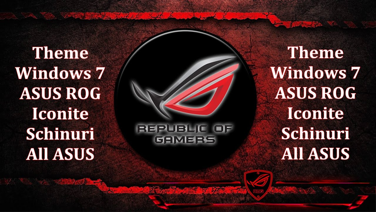 ASUS Red Thema For Windows 7 Republic Of Gamers