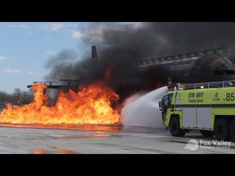 Aircraft Rescue And Fire Fighting (ARFF) Training   Fox Valley Technical College