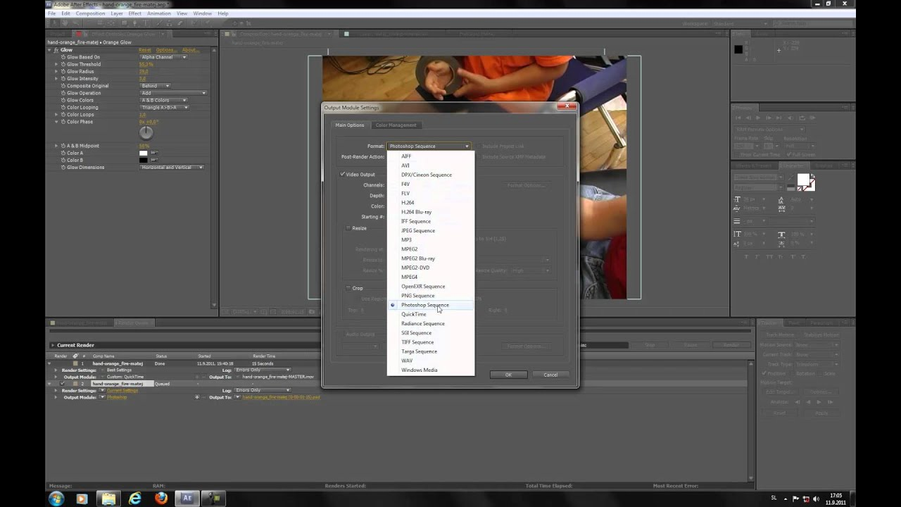 How to export frame in Adobe After Effects to JPEG, TIFF... - YouTube