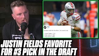 Pat McAfee Reacts To Justin Fields Becoming Odds On Favorite For #3 Pick In The NFL Draft