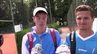 Vitalij Sačko a Ondřej Krstev po čtvrtfinále deblu na turnaji Futures v Ústí n. O.