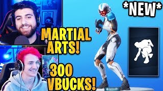 "Streamers React to the *NEW* ""MARTIAL ARTS MASTER"" Emote! 