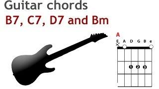 Open dominant seventh guitar chords - B7, C7, D7 as well as Bm - guitarguitar.net