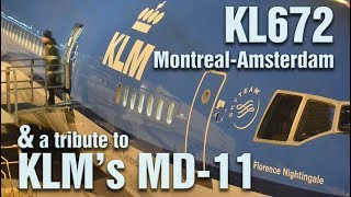 KLM World Business Class YUL - AMS and a tribute to KLM