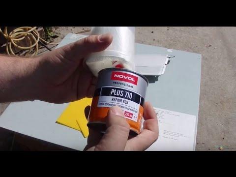 Ролик Как склеить или усилить пластиковые детали, эпоксидной смолой. Сделай сам.