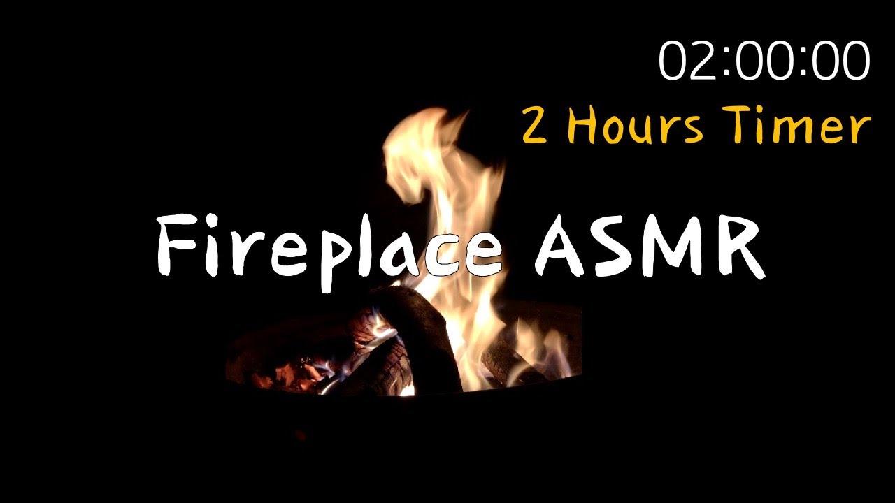 🔥장작 소리 + 2시간 타이머 🕑 Fireplace ASMR + 2 Hours Timer