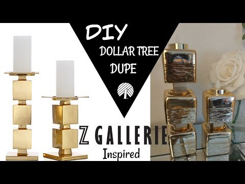 SIMPLE DIY * DOLLAR TREE DUPE/ ZGALLERIE INSPIRED