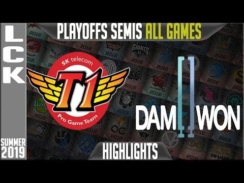 SKT vs DWG Highlights ALL GAMES   LCK Summer 2019 Playoffs Semi-finals  SK Telecom T1 vs Damwon