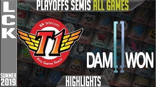 SKT vs DWG Highlights ALL GAMES | LCK Summer 2019 Playoffs Semi-finals  SK Telecom T1 vs Damwon