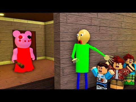 Piggy Meets Baldi (Roblox Animation)