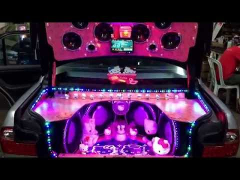 Kuantan unlimited sound demo car! Hello kitty