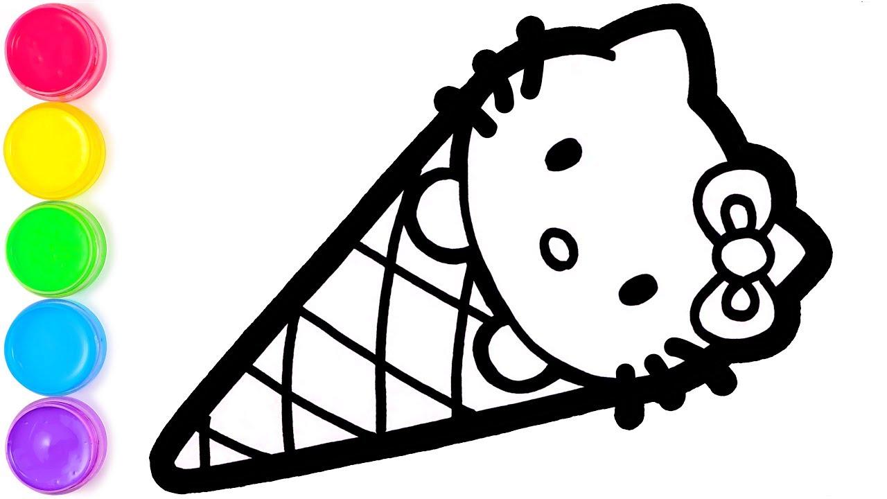 Hello Kitty Tim Ice Cream Belajar Menggambar Dan Mewarnai Untuk Anak Anak Youtube