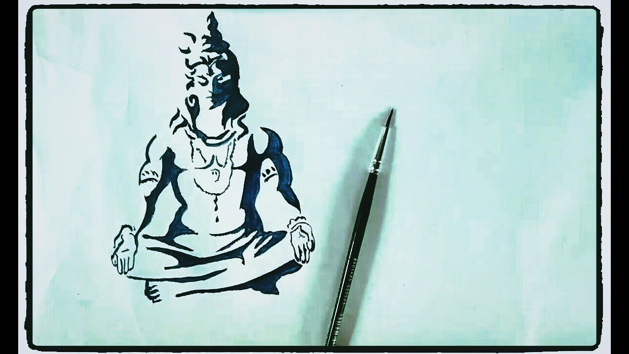 How to draw lord shiva painting tutorial in simple easy step by step for kids drawing lord shiva