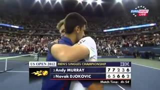 Andy Murray Winning US Open 2012 vs Novak Djokovic