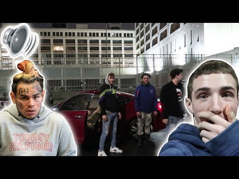 "BLASTING ""WAKA"" in front of 6IX9INE 'S JAIL! (Then this happens...)"