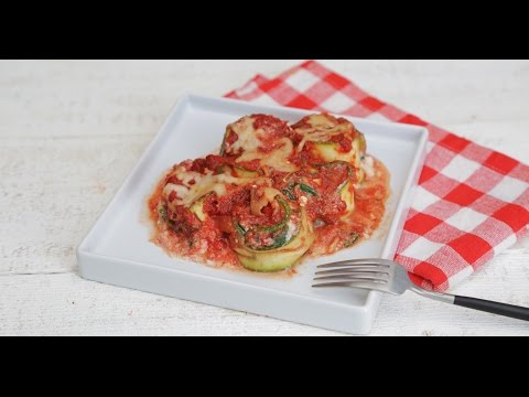 Zucchini Lasagna Rolls Under 150 Calories Per Serving | GLOW