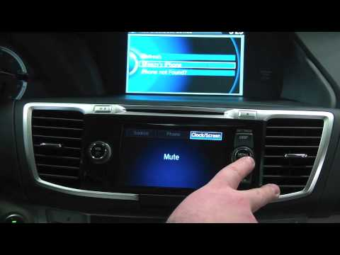 How to connect your phone to a Honda Accord - bluetooth pairing