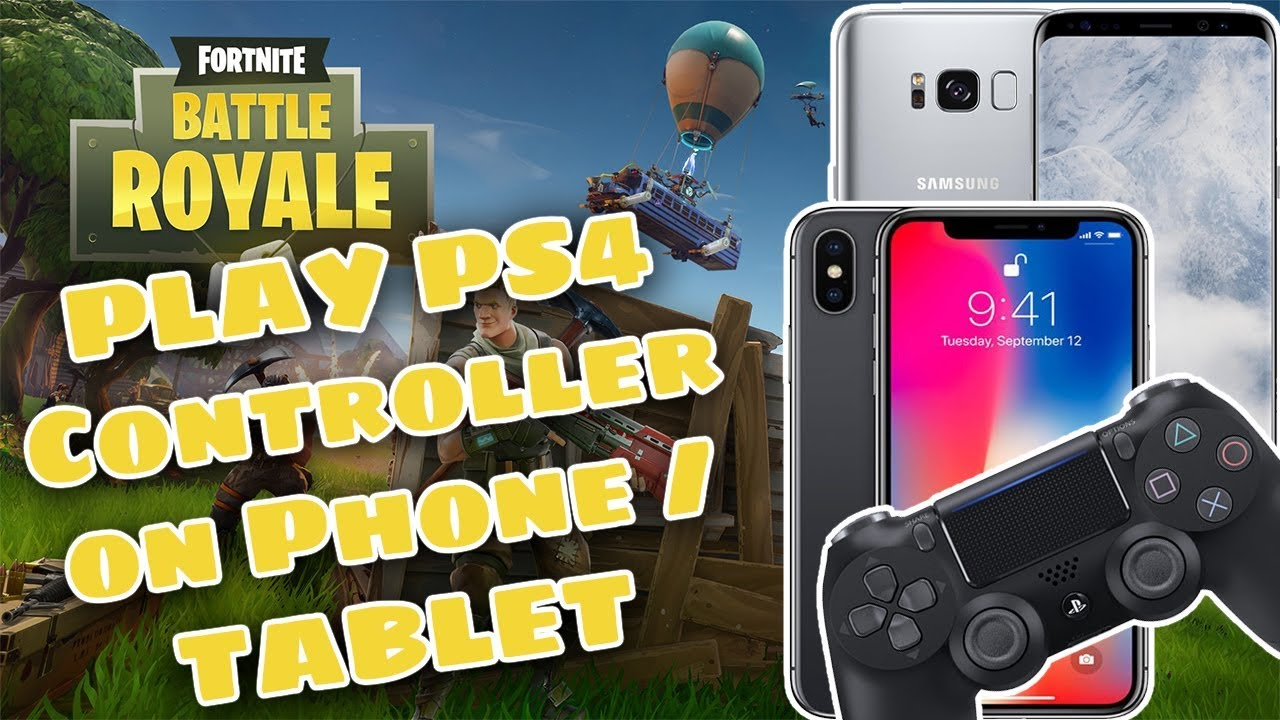 How to play PS4 / PS3 / Xbox Controller on Phone / Tablet - iOS or Android  (Fortnite, PUBG Any Game)