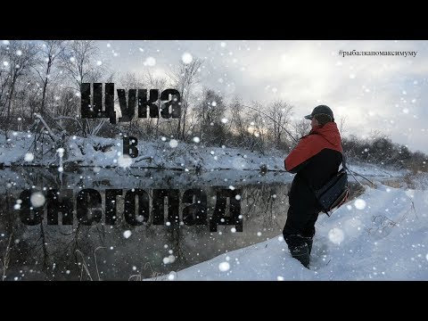 Спасет ли перегруз рыбалку? Зимний спиннинг. Ловля щуки в снегопад.