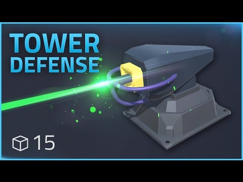 How to make a Tower Defense Game (E15 LASER EFFECTS) - Unity Tutorial