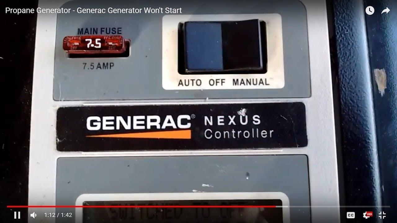 Propane Generator Generac Generator Wont Start Youtube