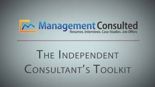 The Independent Consultant's Toolkit