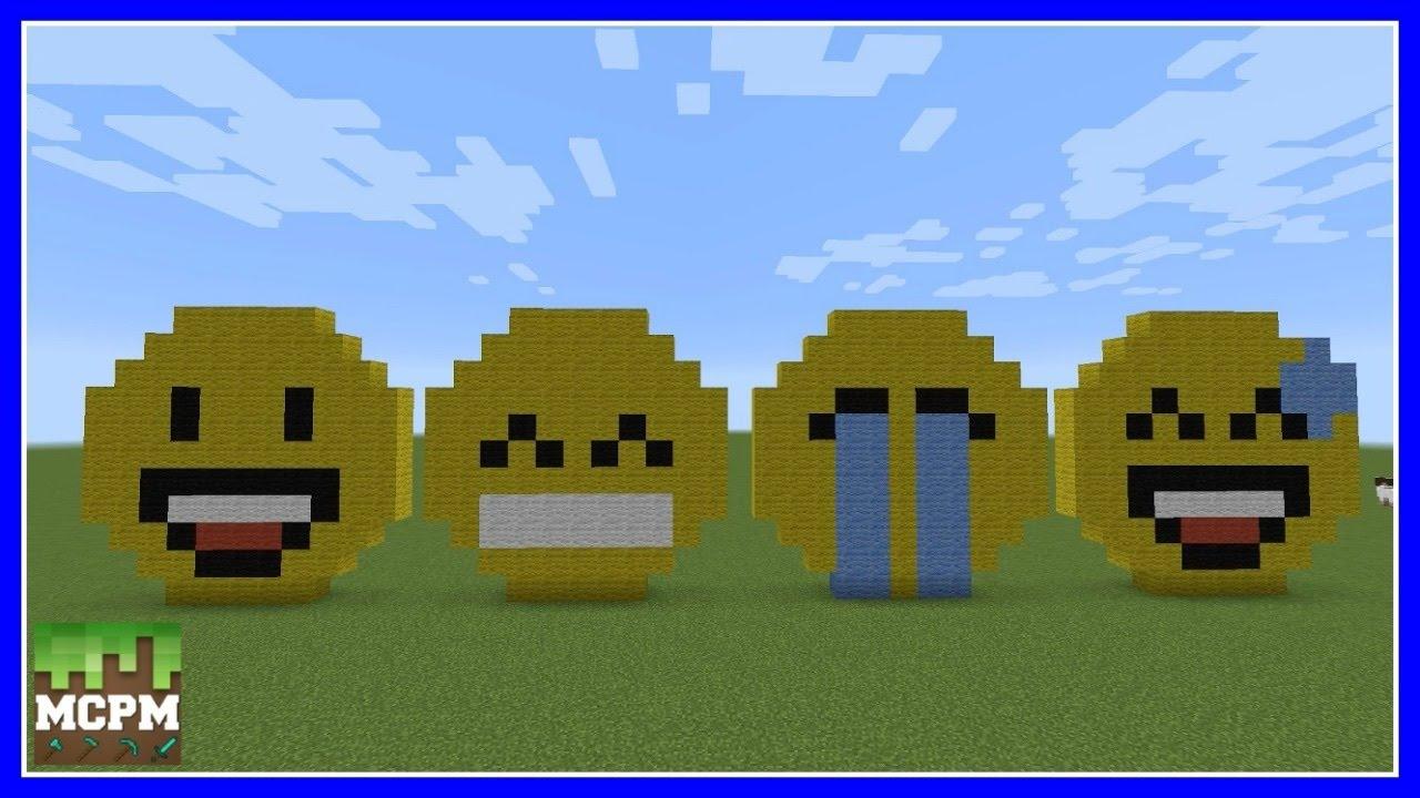 How To Build Emoji S Pixel Art In Minecraft