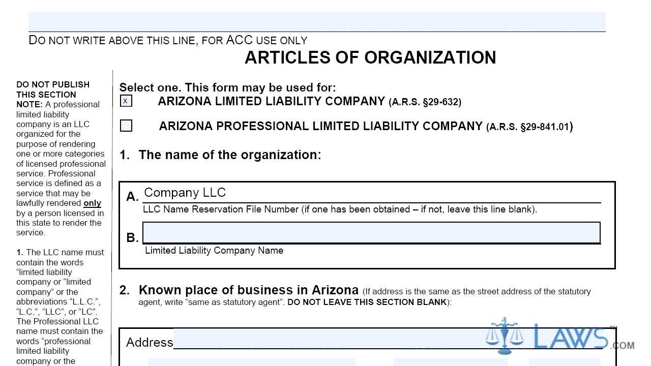 Articles of Organization Domestic LLC LL0004 - YouTube
