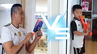 Aiming guns at each other for cereal / NERF WAR | Kids pretend play | Nastya,Diana,Ryan,Shfa